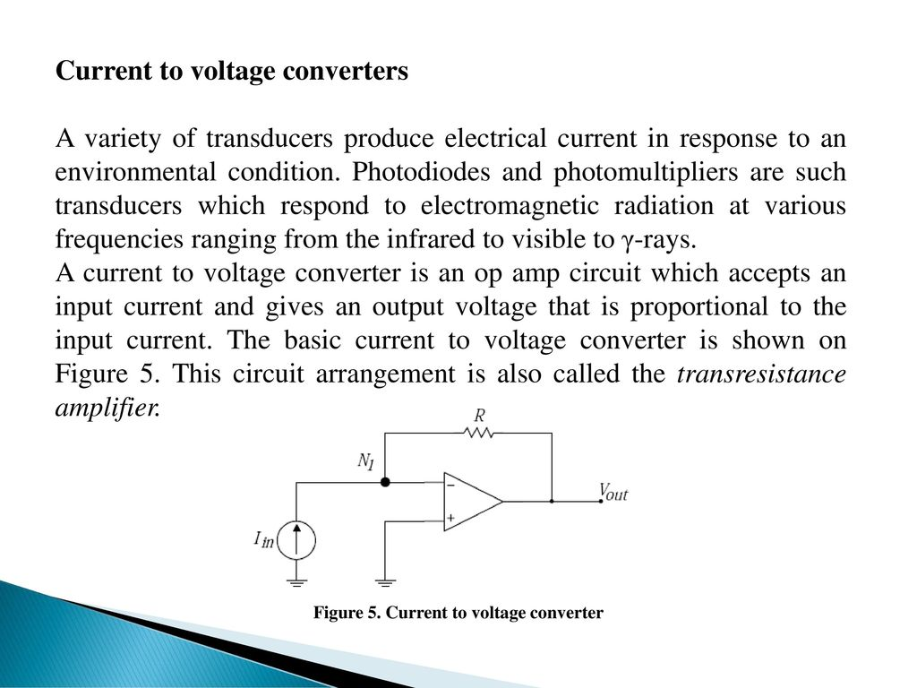 Medical Electronics Ii Ppt Download Current To Voltage Converter