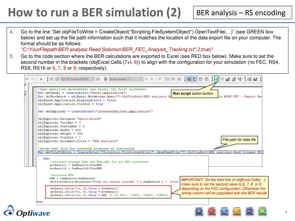 OptiSystem applications: BER analysis of BPSK with RS