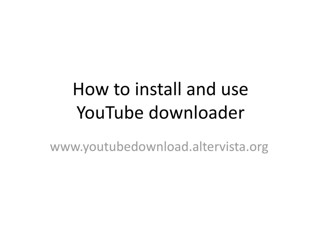 youtube downloader altervista mac
