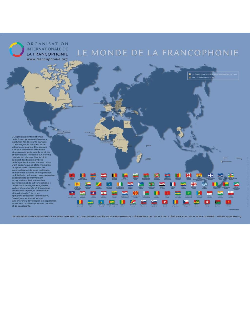 Map Showing Where French Is The Spoken Over The World Ppt Download