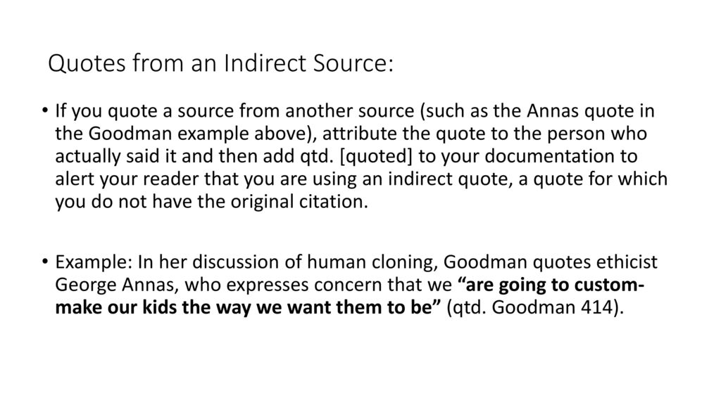 Integrating Quotes In A Research Paper Ppt Download