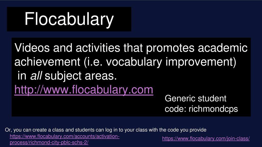 Beautiful Flocabulary Login and Password
