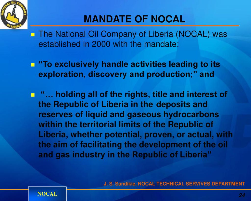 Oil Mandate