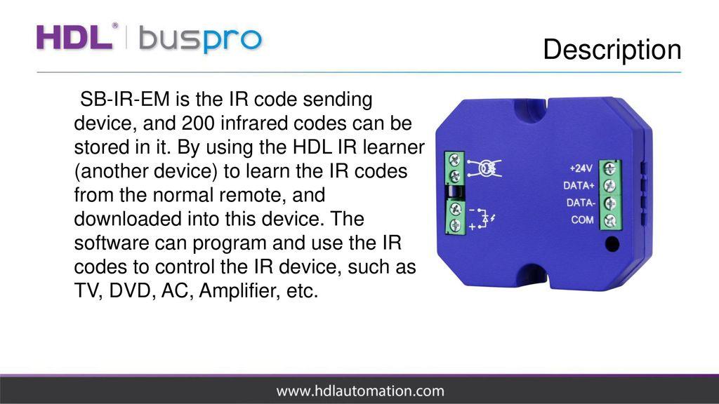 IR Emitter module SB-IR-EM  - ppt download