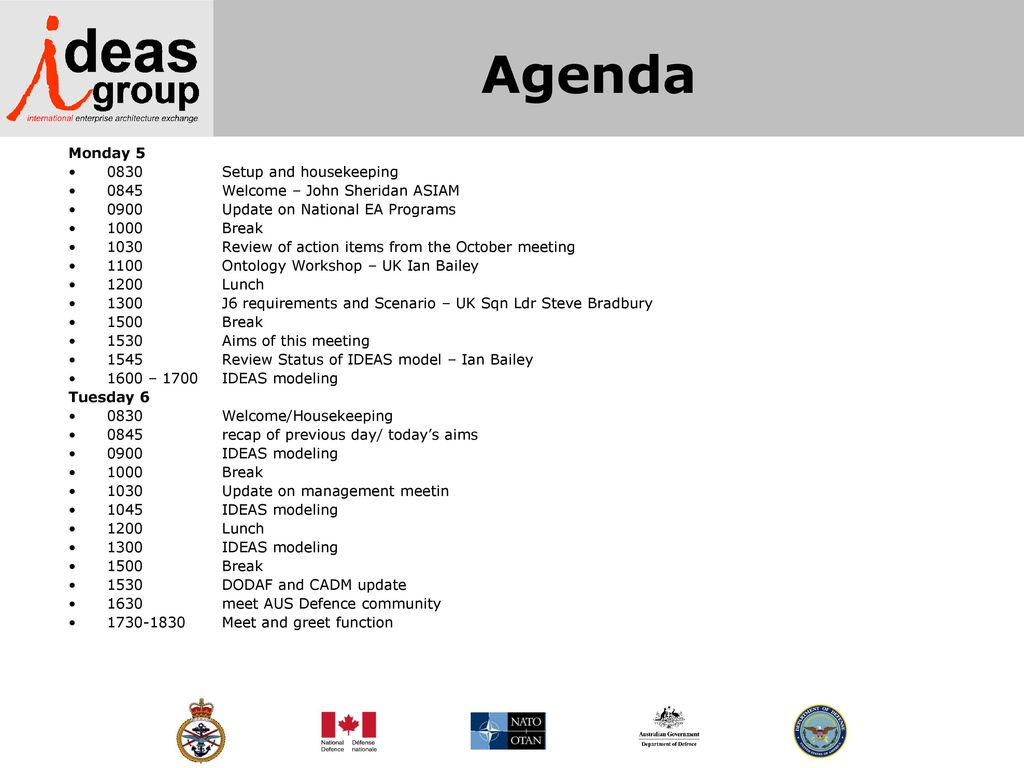 International defence enterprise architecture specification ideas 4 agenda m4hsunfo