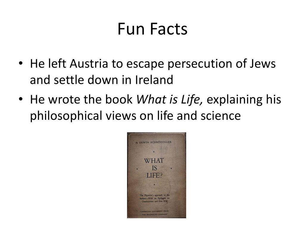 erwin schrödinger facts