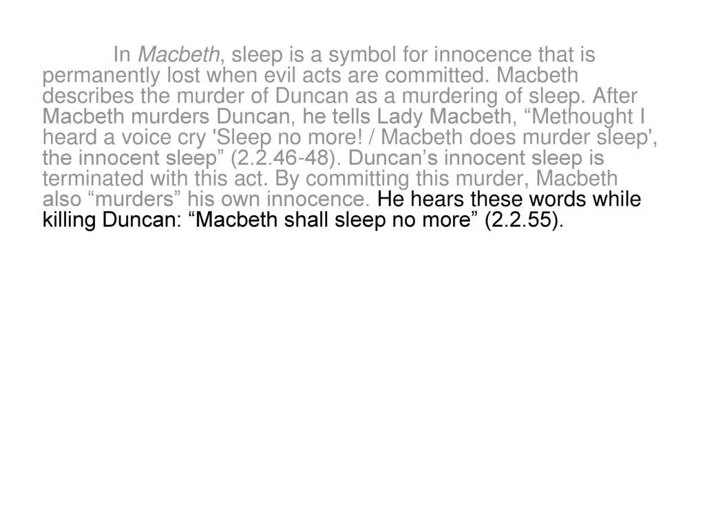 sleeplessness in macbeth