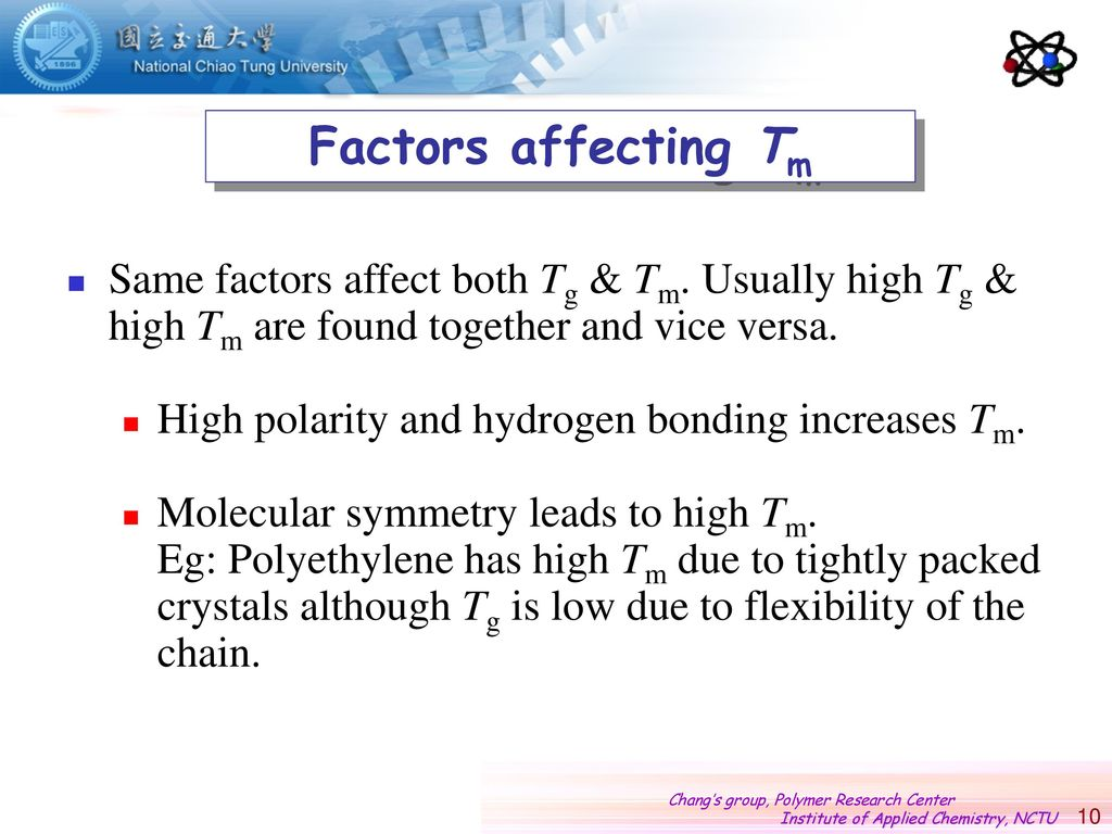 Polymer Thermal Transitions: Crystallization, Tm and Tg