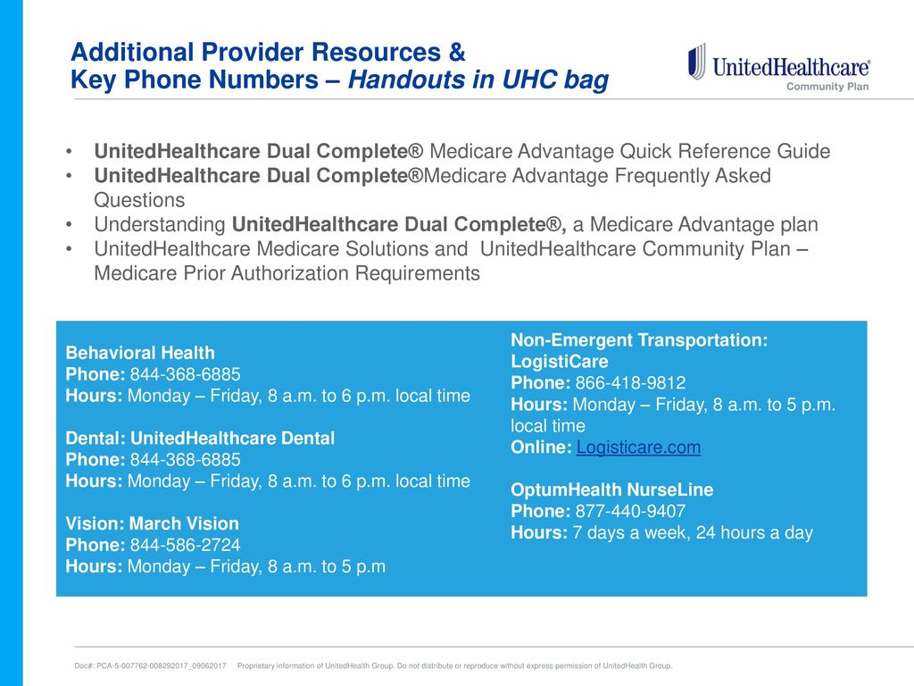 Unitedhealthcare Dual Complete Plan And Benefits Ppt Download