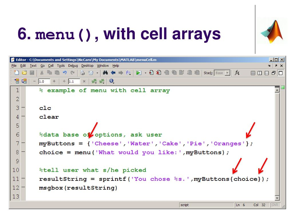 Matlab Edit Cell Array