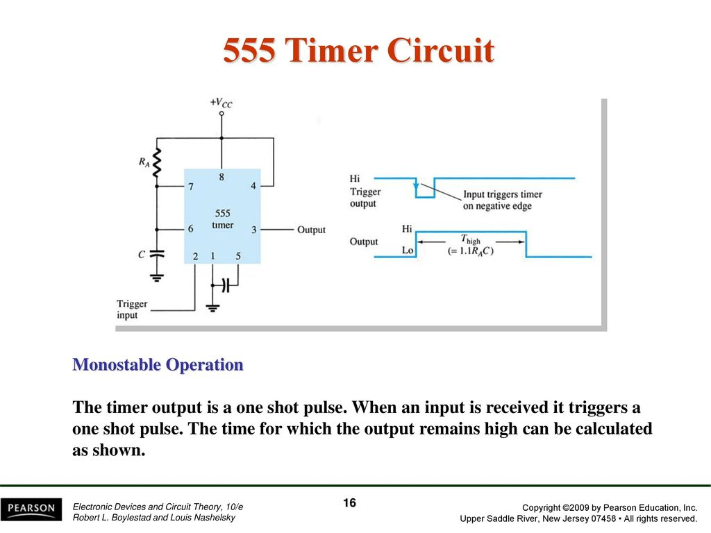 Chapter 13 Linear Digital Ics Ppt Download How To Build Cmos 4017 Sequential Timer Circuit Diagram 555 Monostable Operation