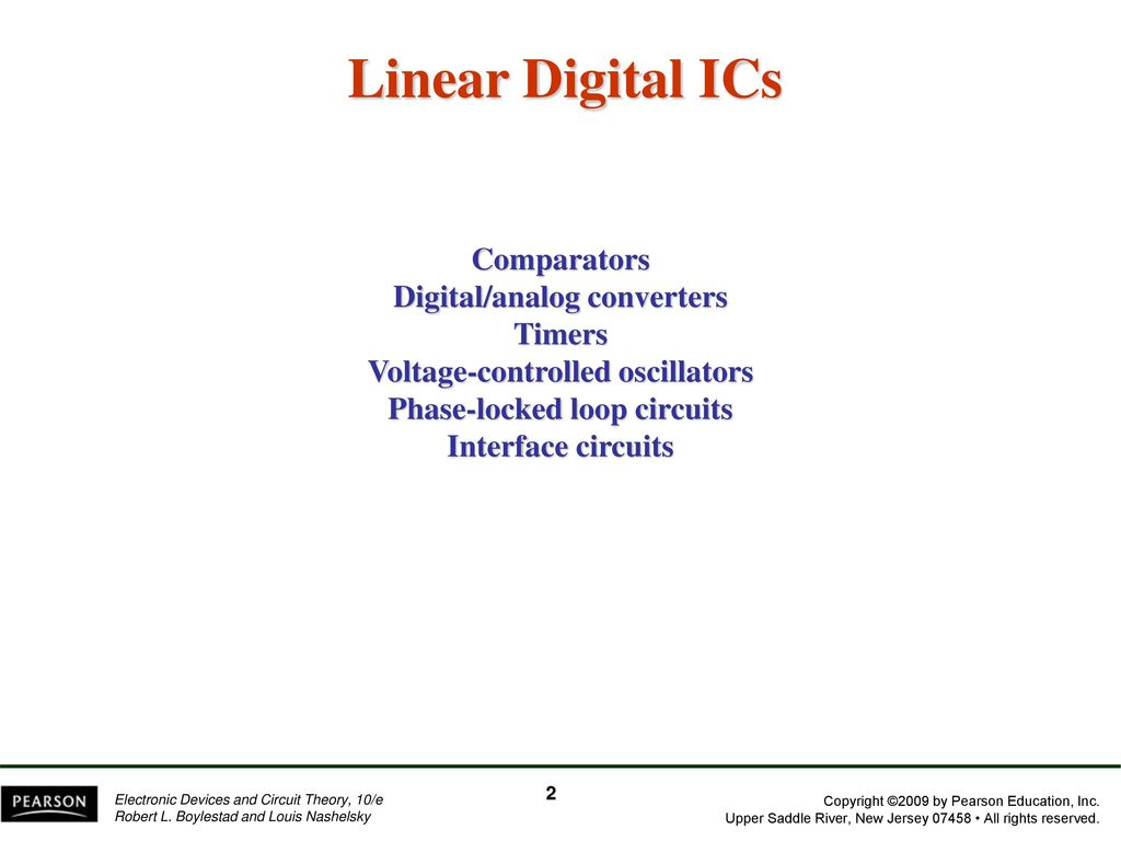 Chapter 13 Linear Digital Ics Ppt Download Pearson Education Electronic Devices And Circuit Theory New 2