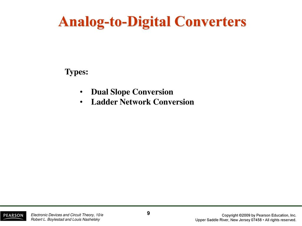Chapter 13 Linear Digital Ics Ppt Download Cmos Integrated Analogtodigital And Digitaltoanalog Converters 9 Analog To