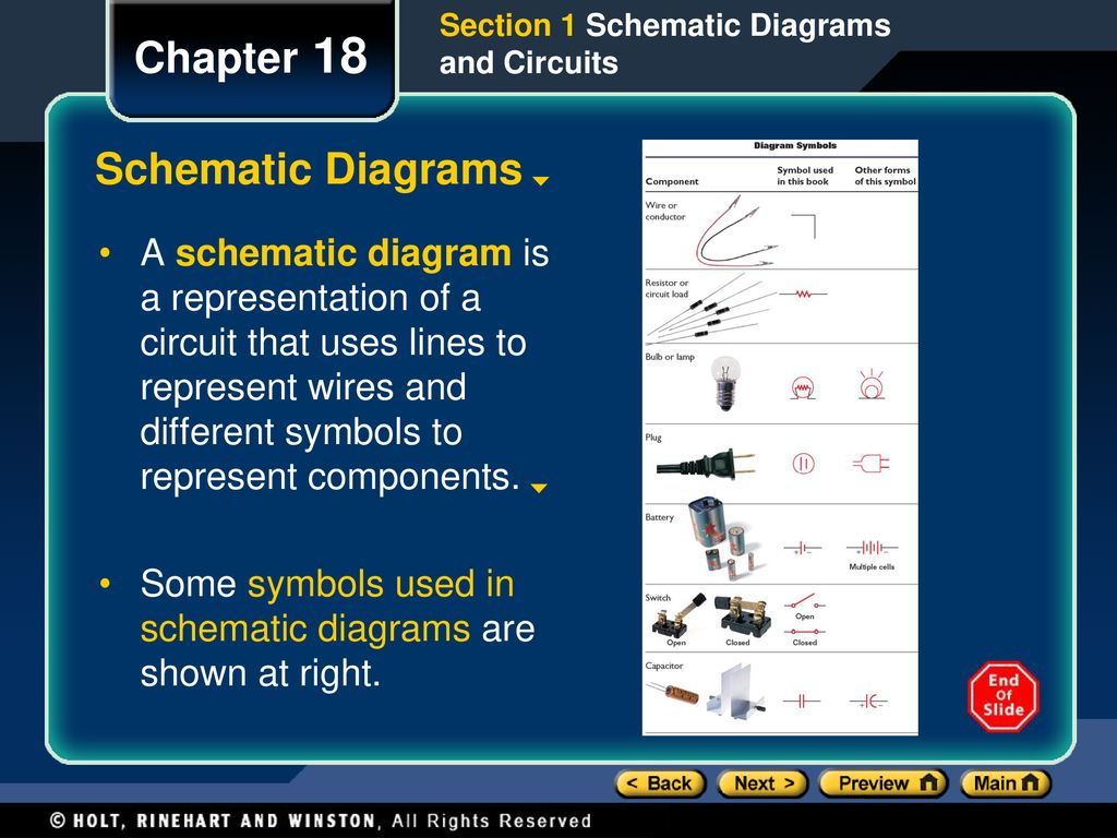 Chapter 18 Objectives Interpret And Construct Circuit Diagrams Make Diagram Schematic