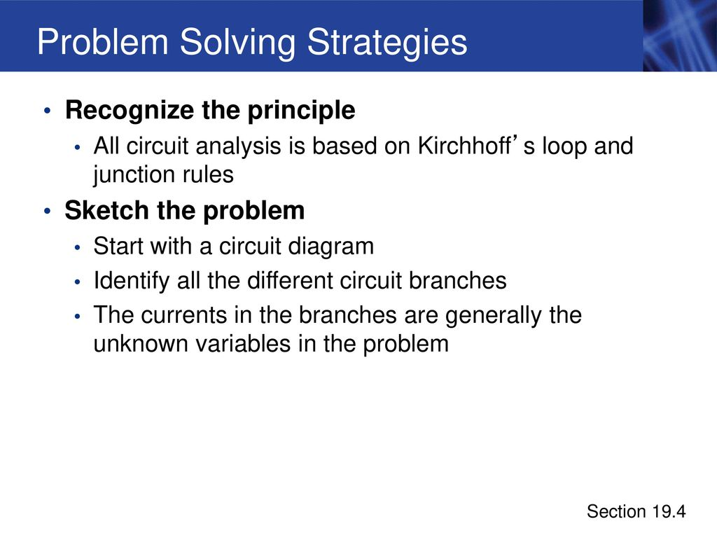 Electric Currents And Circuits Ppt Download Circuit Diagram Rules 41 Problem Solving Strategies