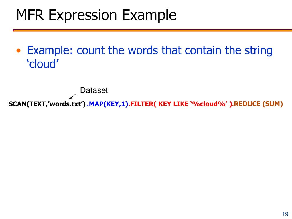 MFR Expression Example