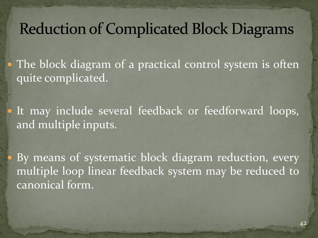 reduction of complicated block diagrams