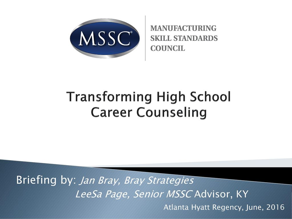 Transforming High School Career Counseling Ppt Download