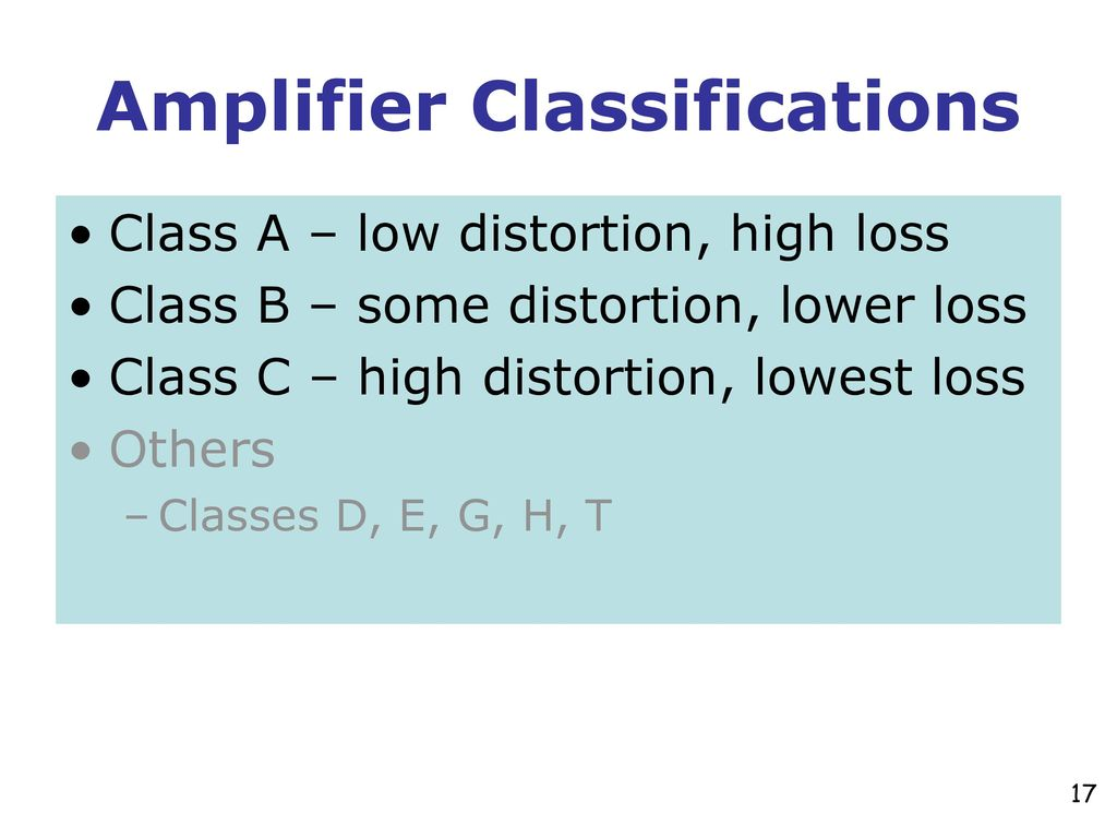 Introduction To Amplifiers Ppt Download Class A Amplifier Is Classa Transistor Classifications