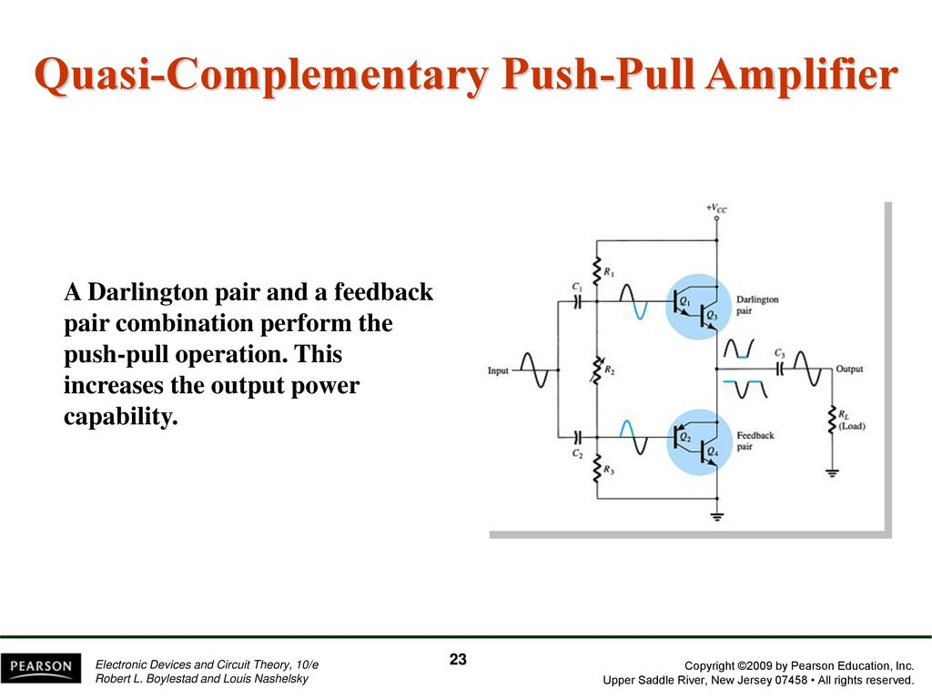 Chapter 12 Power Amplifiers Ppt Download High Gain Darlington Pair Circuit Quasi Complementary Push Pull Amplifier