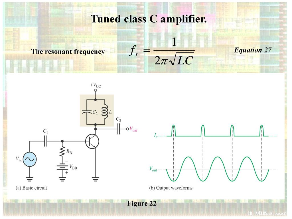 Dmt 231 3 Electronic Ii Power Amplifiers Class C Ppt Download Inverting Amplifier With Ab Tuned
