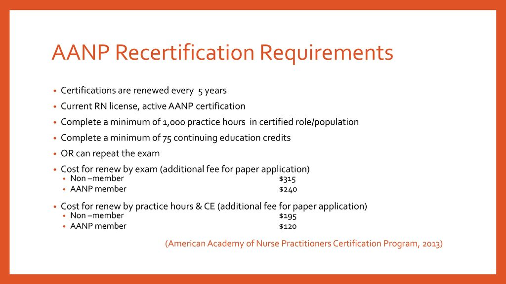 National Certifications and Recertification Requirements - ppt download
