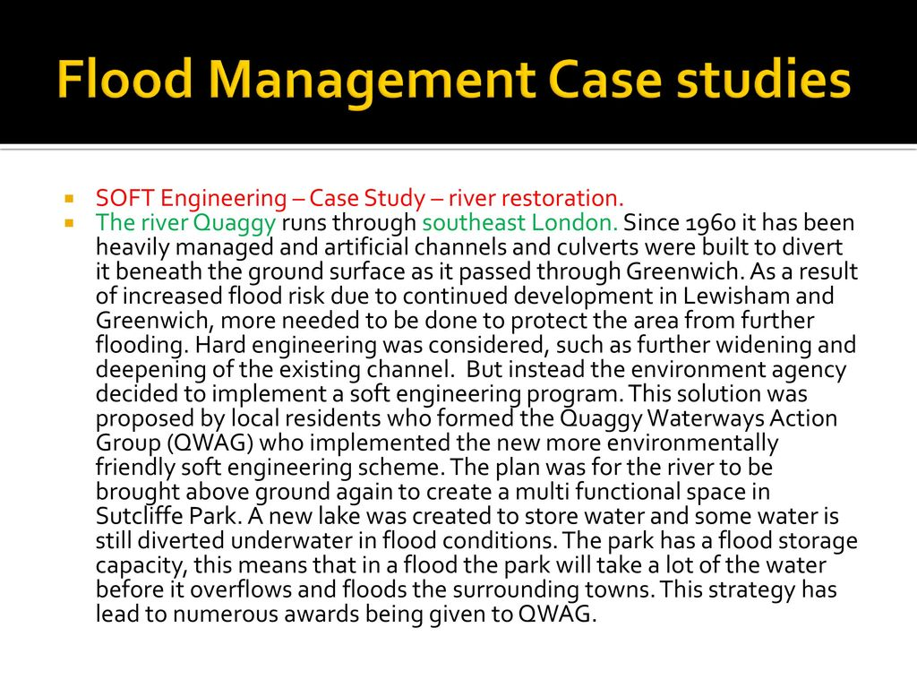 soft engineering case study river quaggy