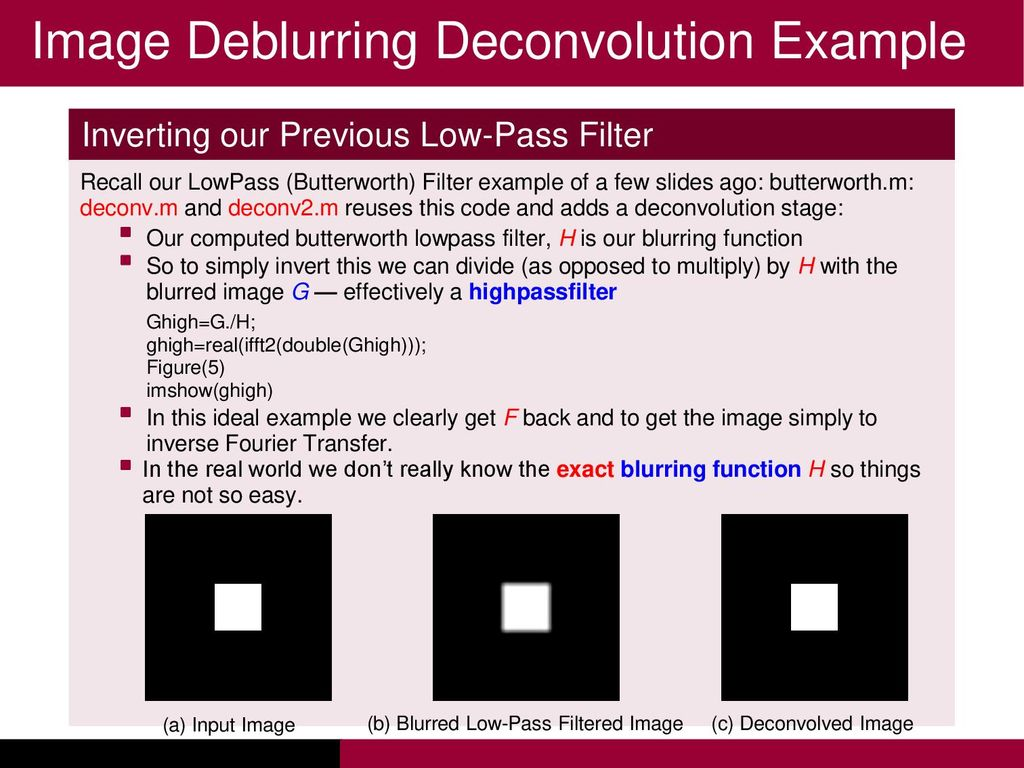 Lecture 4: Filters  - ppt download