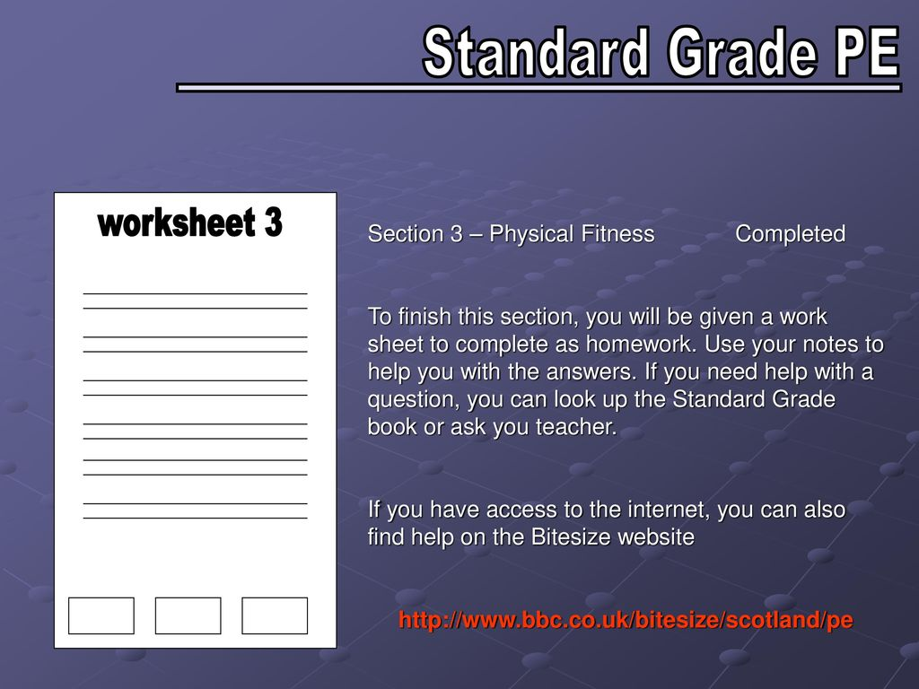 Worksheet  Physical Fitness Completed