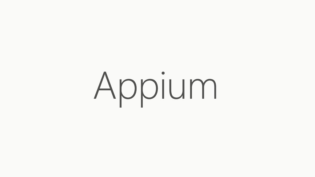 UI Test Automation with Appium - ppt download