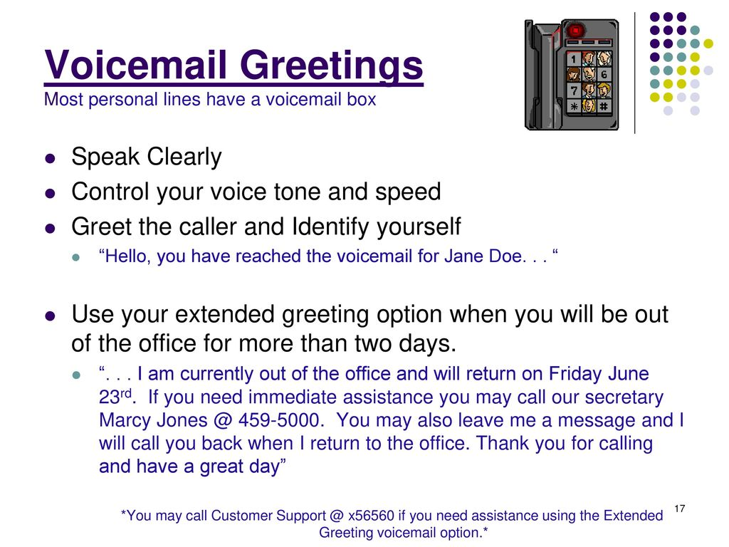 Polite voicemail greeting choice image greetings card design simple polite voicemail greeting images greetings card design simple m4hsunfo