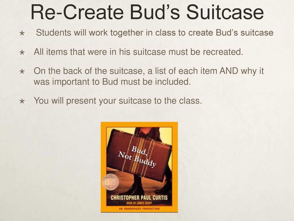 Author Visit Bud Not Buddy Ppt Download