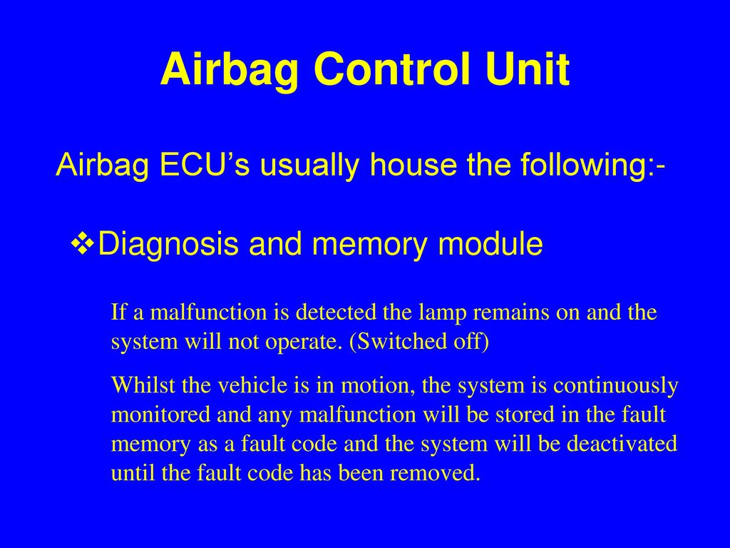 Airbags  - ppt download