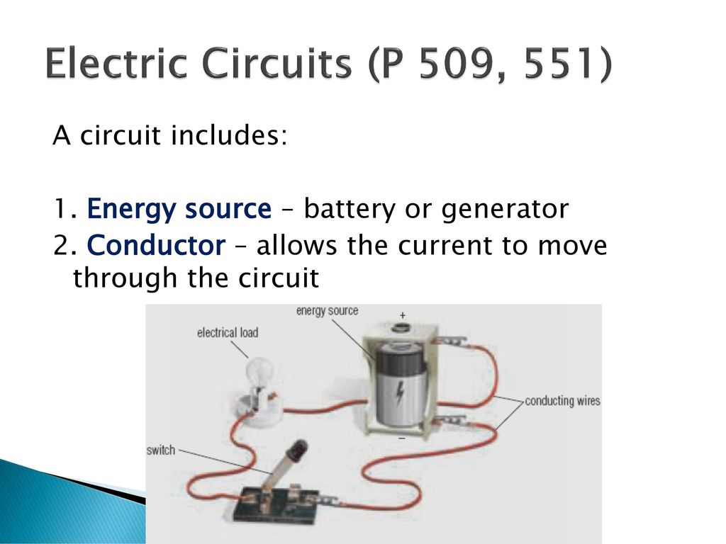 Current Electricity And Electric Circuits Ppt Download An Electrical Circuit Also Requires A Power Source Battery Generator 9