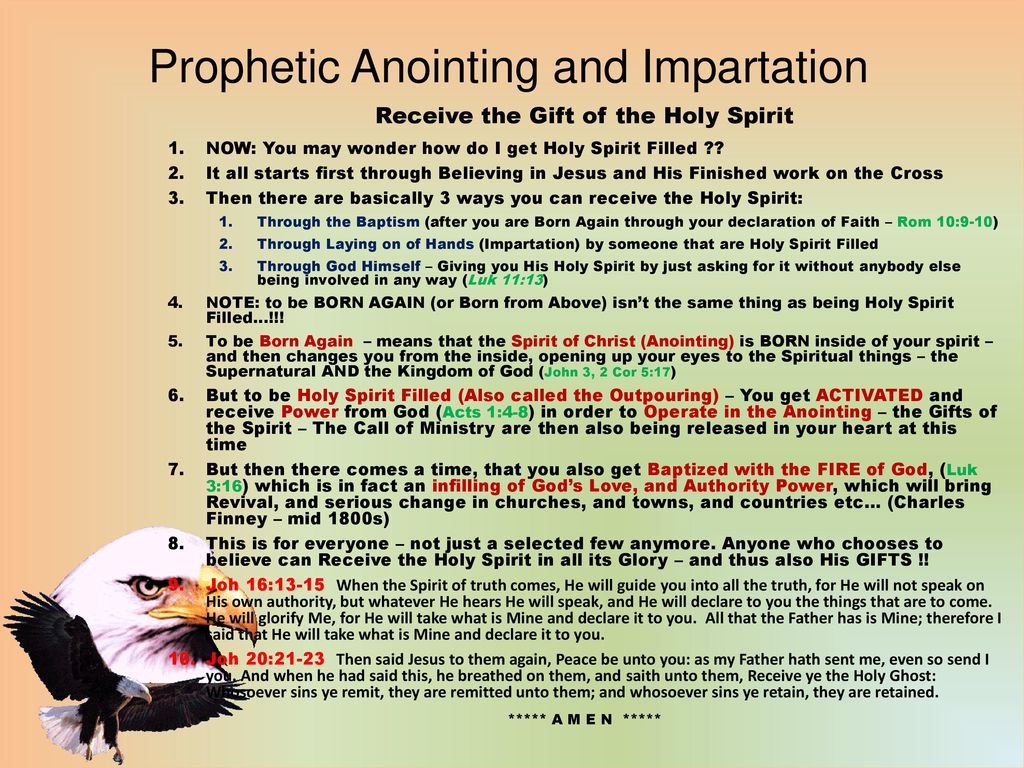 Prophetic Anointing and Impartation - ppt download
