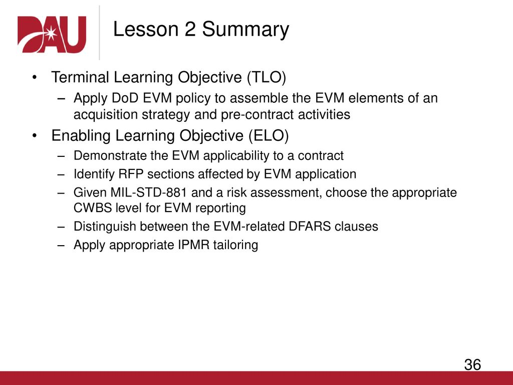 EVM 202—Lesson 2 EVM in the Acquisition Strategy - ppt download