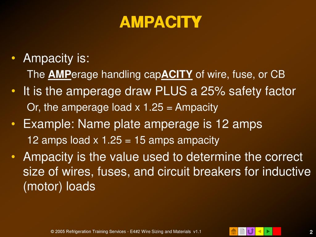 E4 electrical installation ppt download acity ampacity amp ampacity is greentooth Gallery