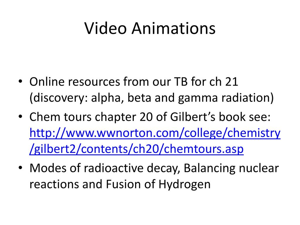 Nuclear Chemistry (Topic for Regents exam, SAT II exam and