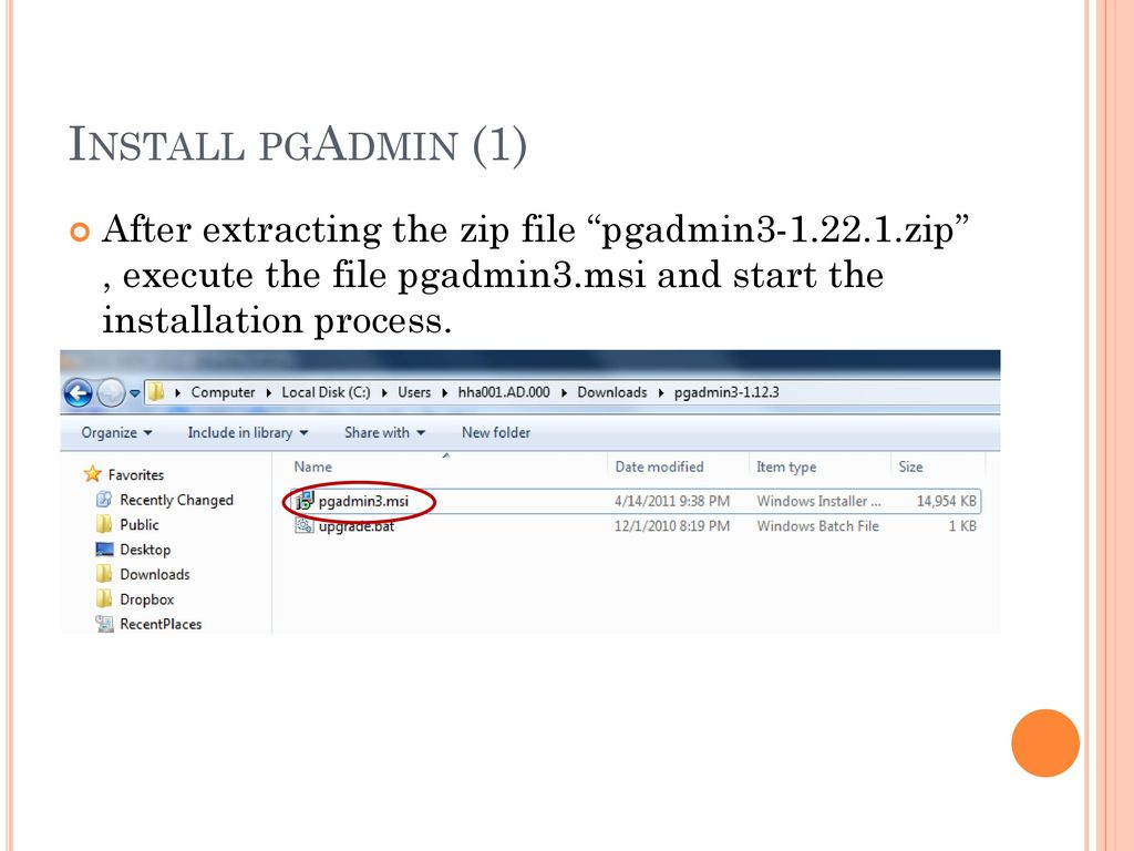 COP5725 Database Management Connect to PostgreSQL sever via