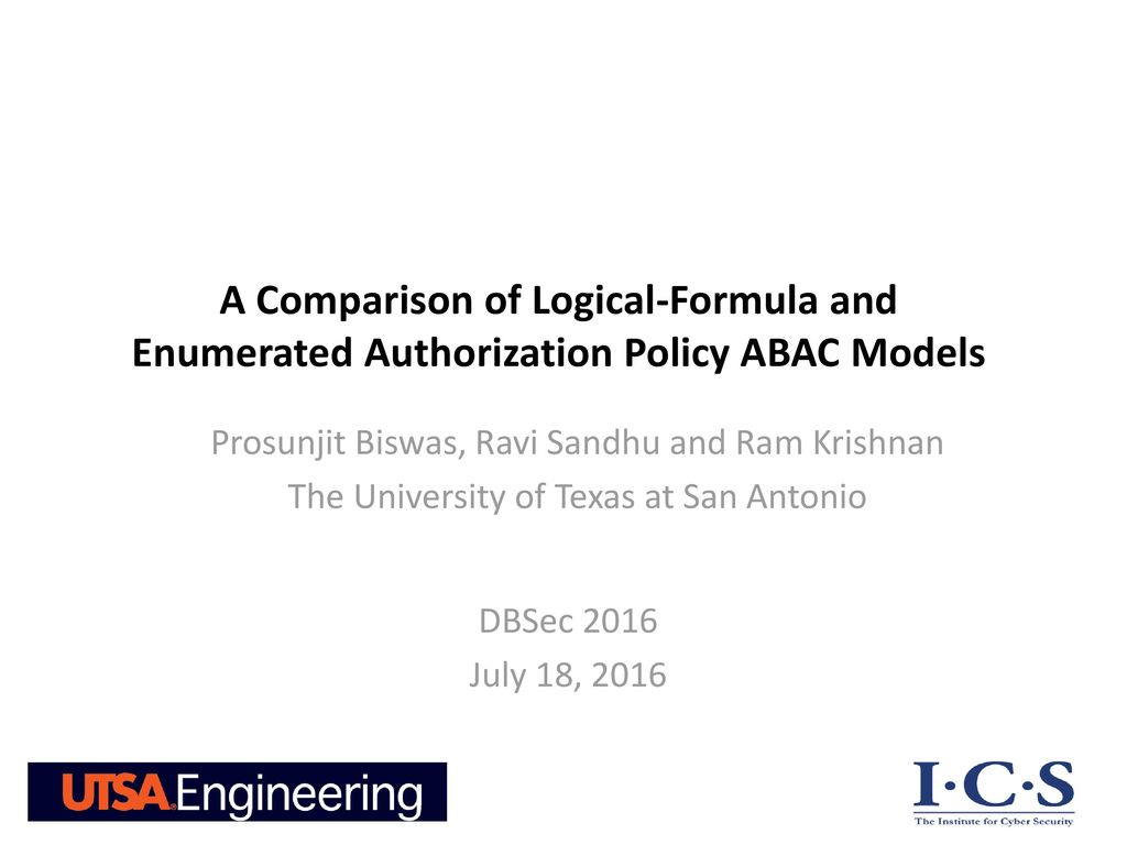 A Comparison of Logical-Formula and Enumerated Authorization Policy ABAC  Models