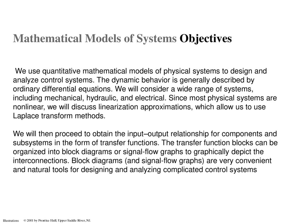 Mathematical Models Of Systems Objectives Ppt Download Block Diagram Generator Control System