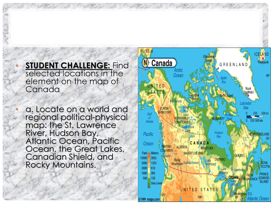 Map Of Canada For Students.Environmental Concerns In Canada Ppt Download