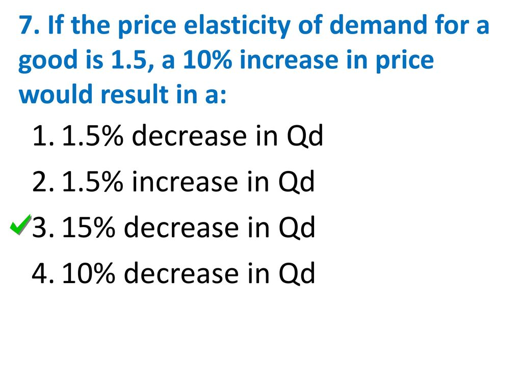 4a Price Elasticity Of Demand Ppt Download