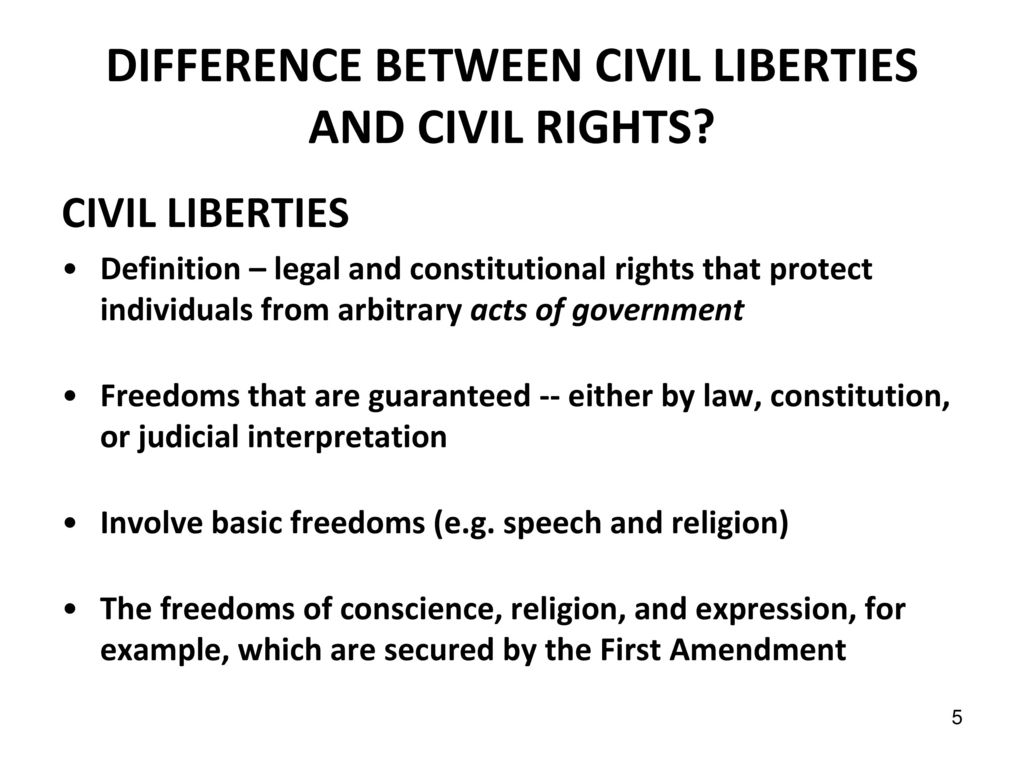 civil liberties and civil rights - ppt download
