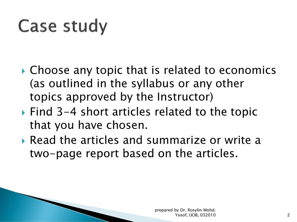 Case Study ECON 140 ECON 141 FIN ppt download