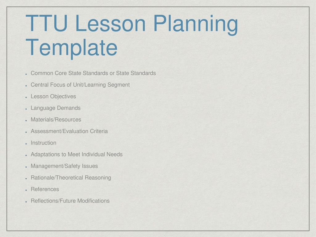 Formal Lesson Planning Ppt Download