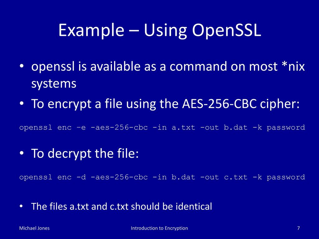 Principles of Encryption - ppt download