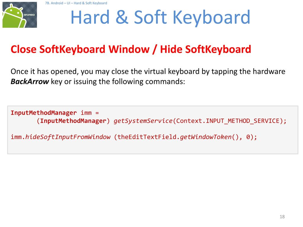Android Hard & Soft Keyboards - ppt download