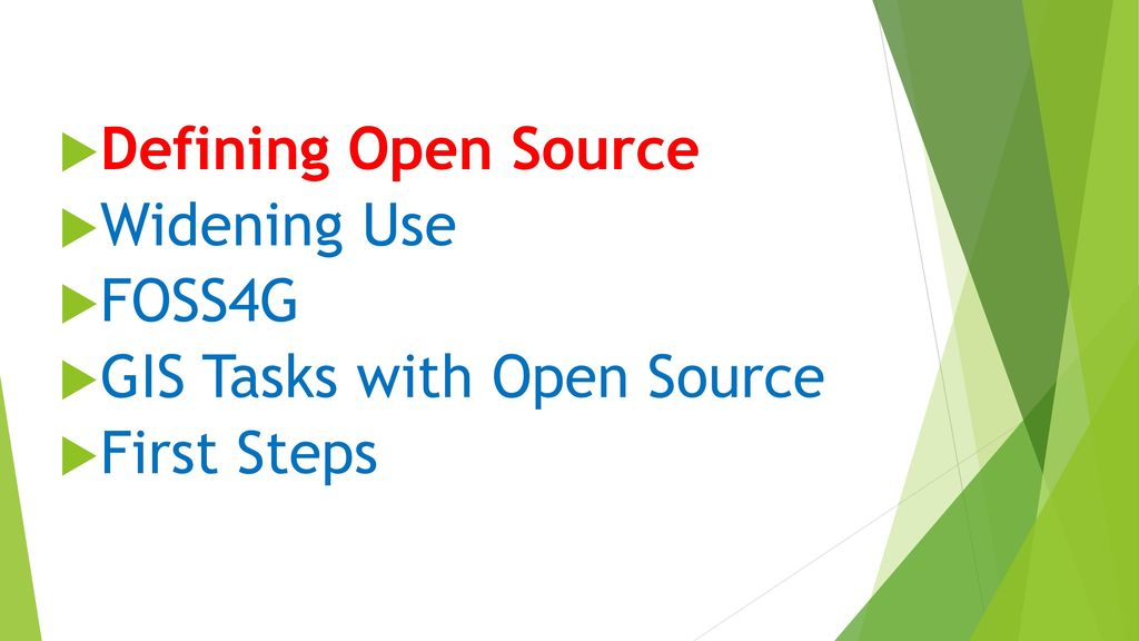 Open Source GIS Opportunities Abound  - ppt download