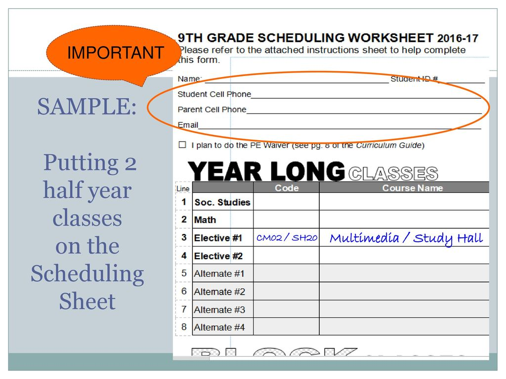 class of 2021 scheduling for school year ppt download